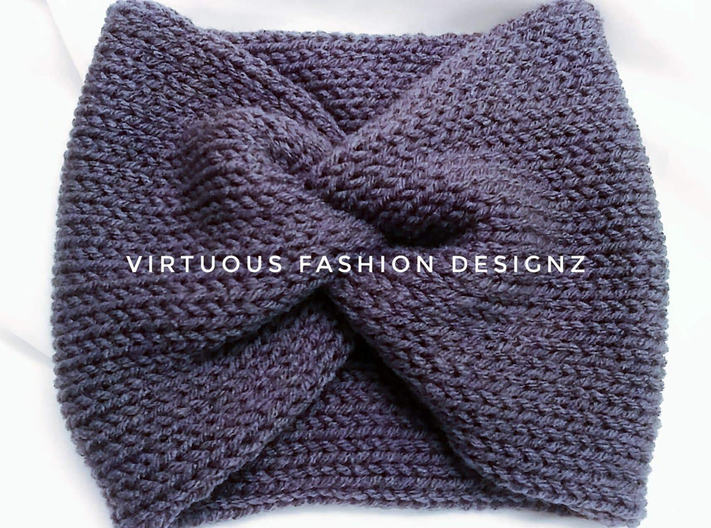 Knitted Cozy Turban Ear Warmer/Headband - Virtuous Fashion Designz/God's Truth Clothing