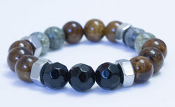 Men's Hex Nut Beaded Bracelet