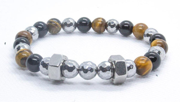 Men's Hex Nut Beaded Bracelet - Virtuous Fashion Designz/God's Truth Clothing