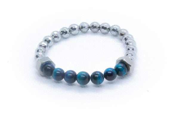 Men's Hematite Beaded Bracelet - Virtuous Fashion Designz/God's Truth Clothing