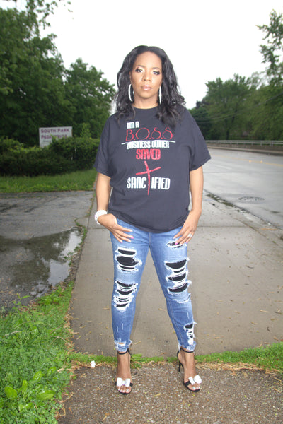 I'M A B.O.S.S Specialty Tee - Virtuous Fashion Designz/God's Truth Clothing