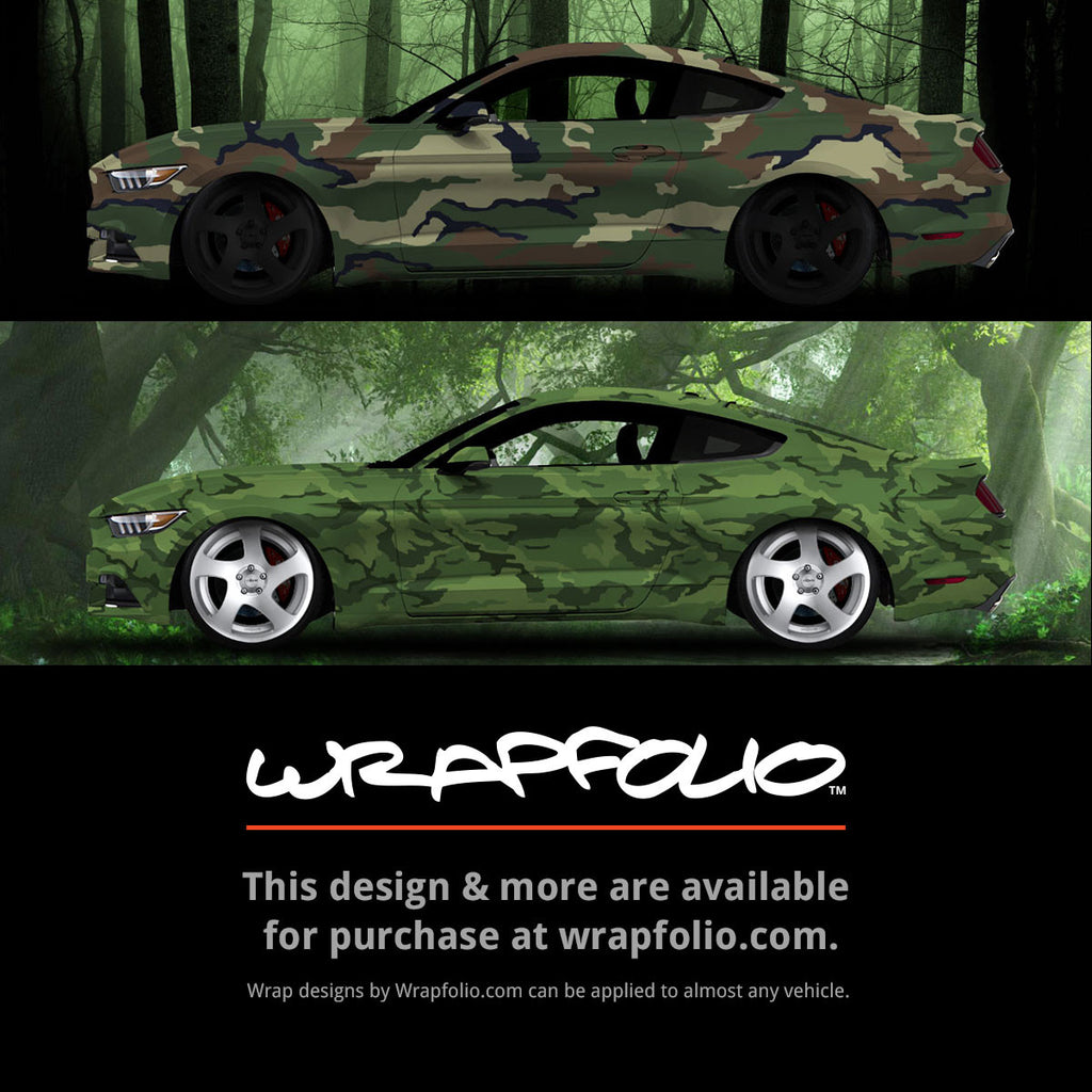 Woodland Green Camo Wrap