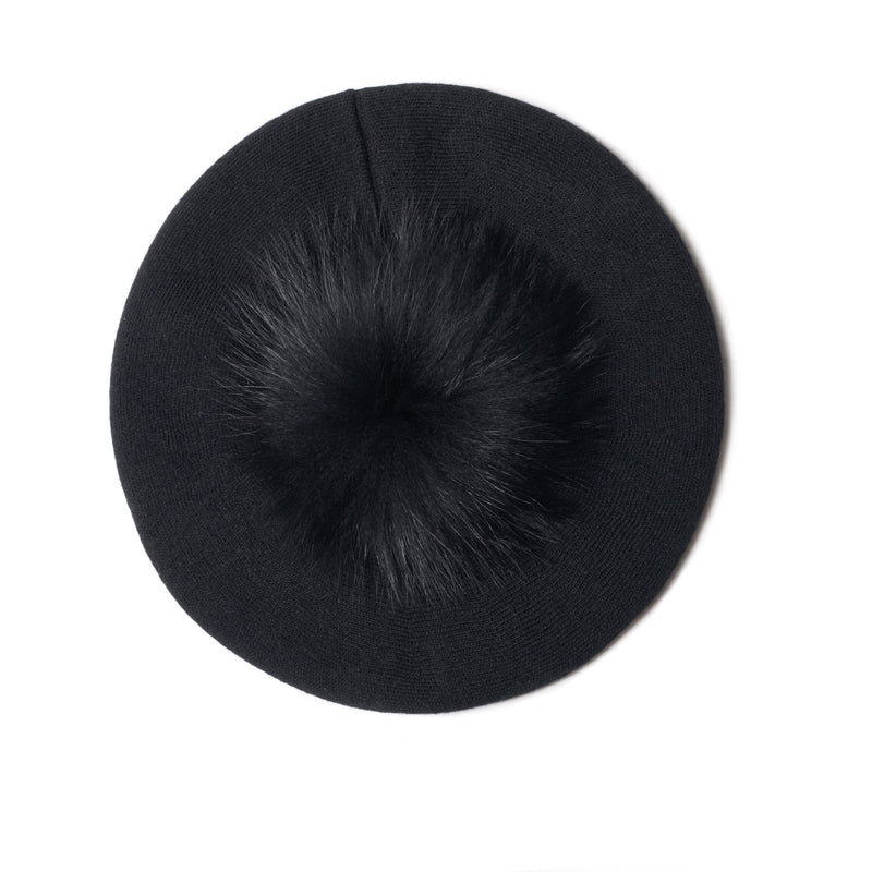 The Lina Beret in Black
