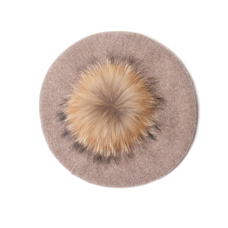 The Lina Beret in Light Brown
