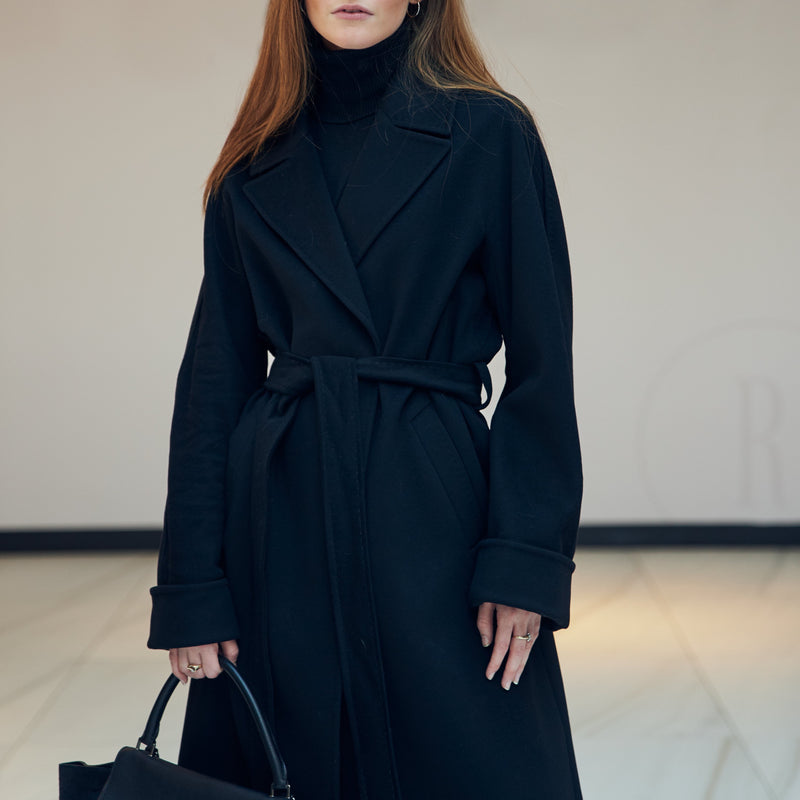 The Harper Coat in Black