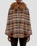 The Jessica Cape in Brown
