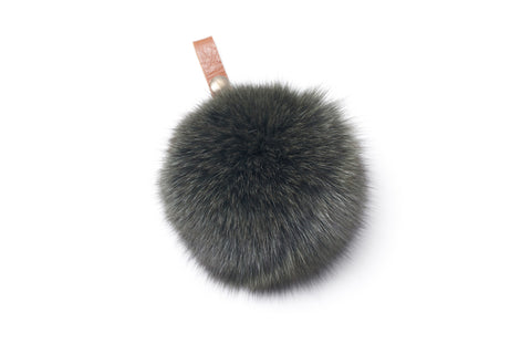 Two-Tone Fox Pompom with Ring