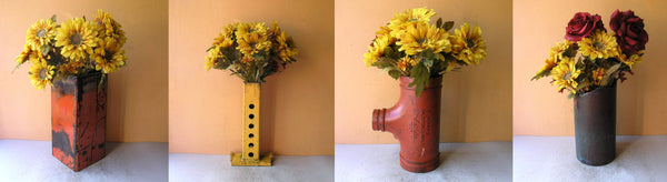 industrial flower vases