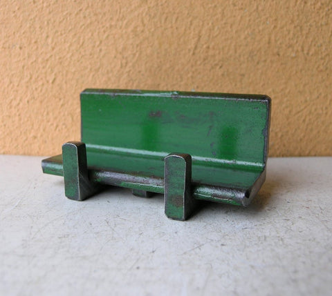 green metal card holder