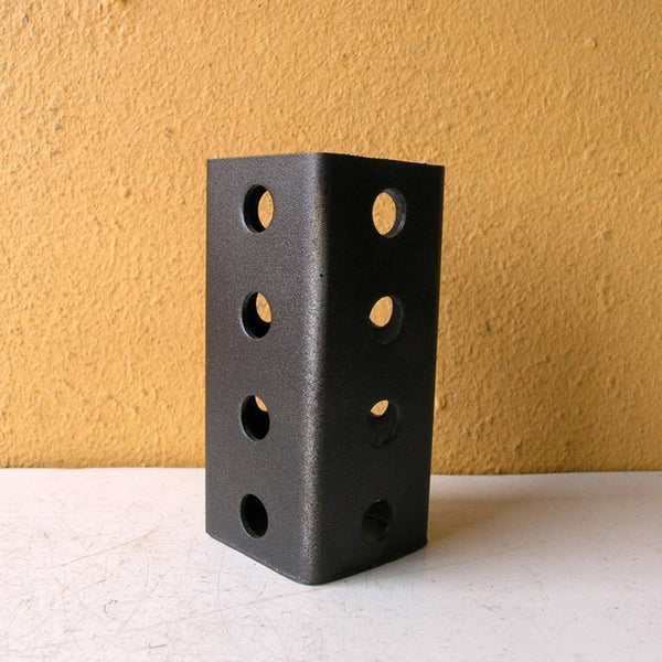 Hammered bronze square pencil holder - PaulaArt