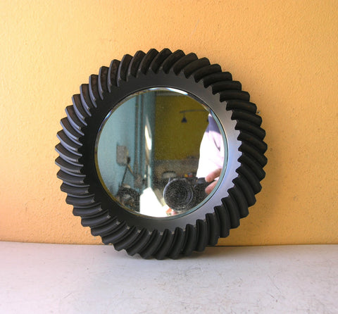 beveled gear wall mirror for home or office