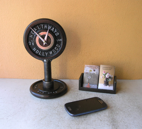 Barbell weight clock, Healthways Hollywood, muscleman gift idea