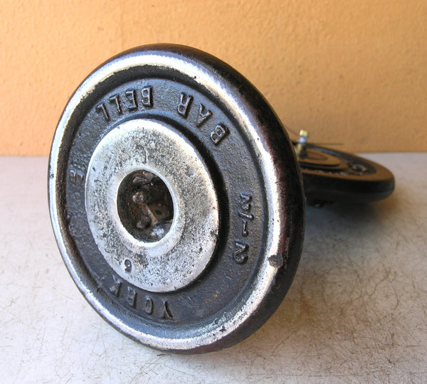 bottom of weight plate table clock