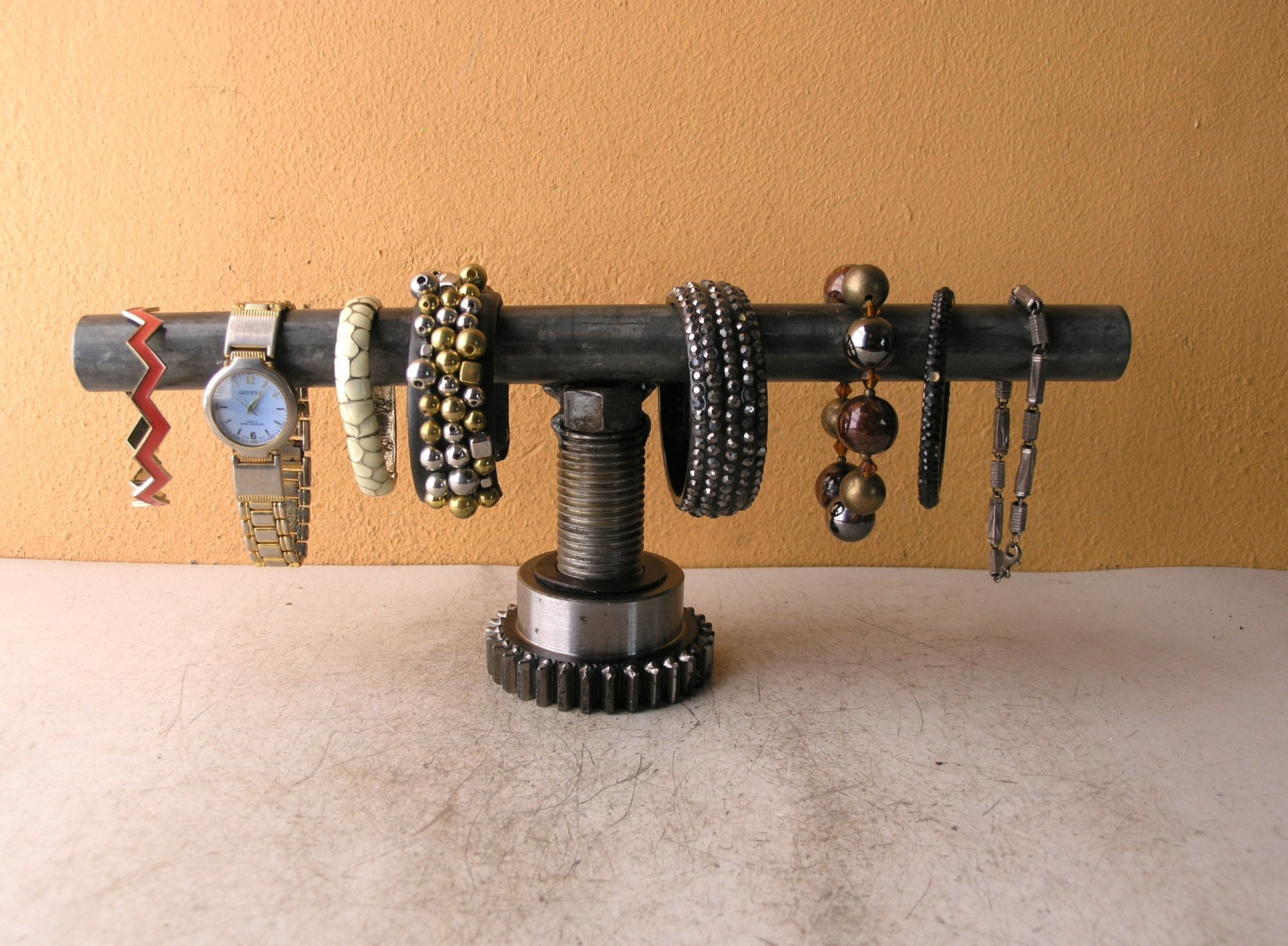 industrial watch holder for men, bracelet jewelry rack