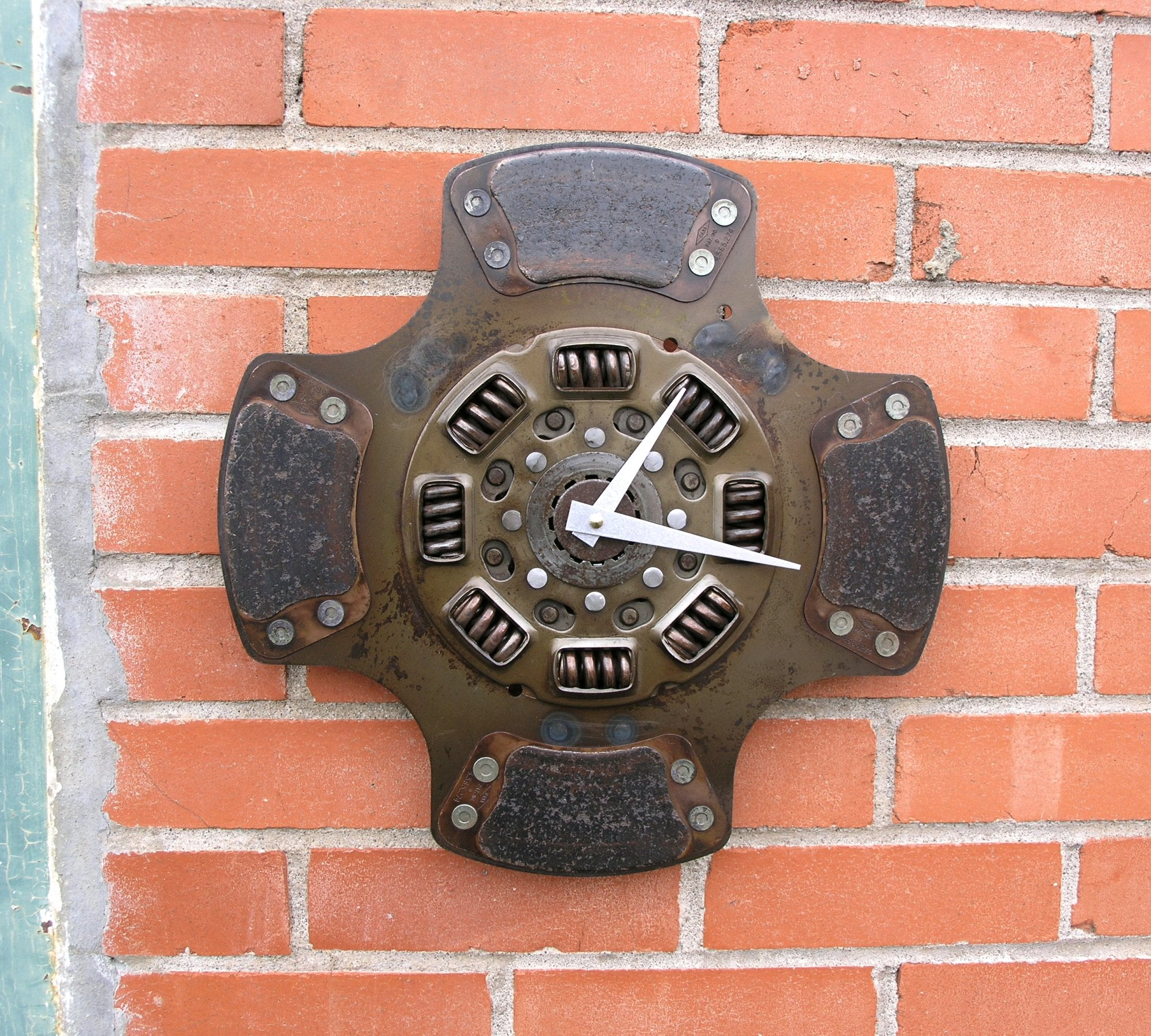 flywheel clutch wall clock, industrial decor