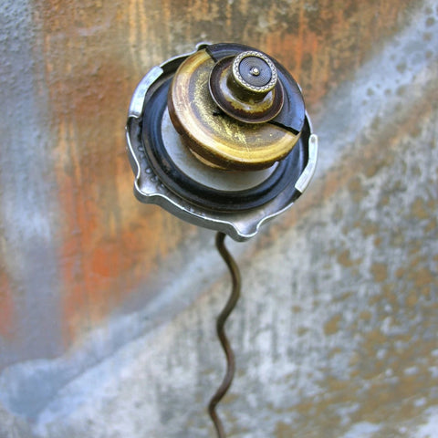 recycled junk auto part flower