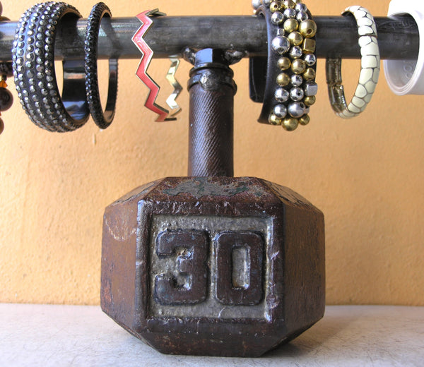 30 lb dumbbell watch holder