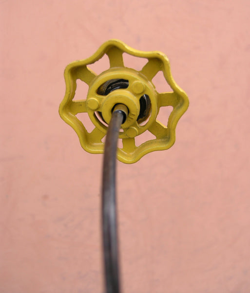 back view of faucet flower
