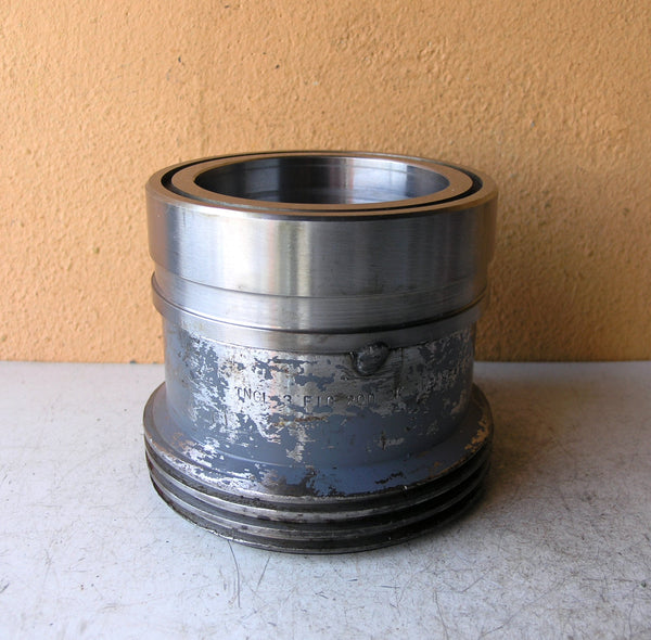 blue gray silver pencil holder