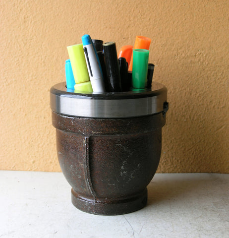 iron pencil holder for desk