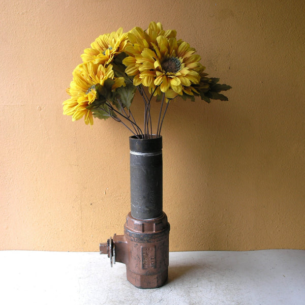 recycled steel pipe vase