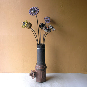 industrial flower vase