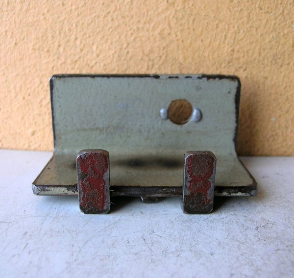 salvaged steel industrial card holder