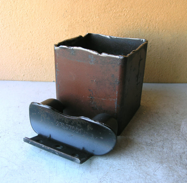industrial pen cup with card holder