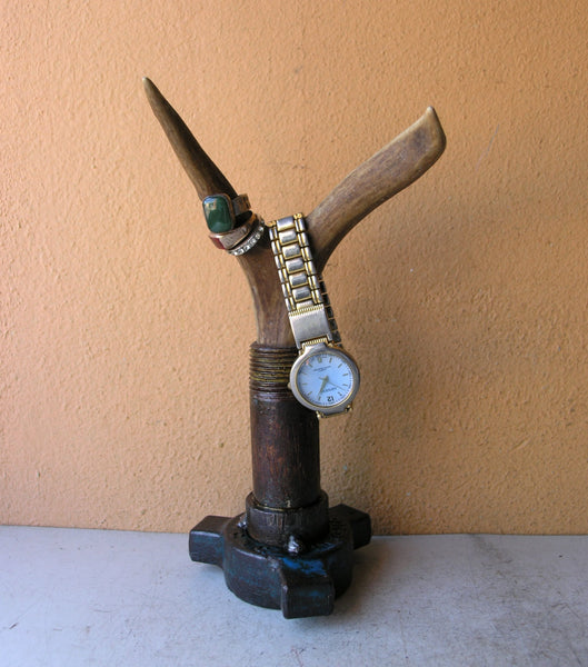 Deer horn ring and watch organizer