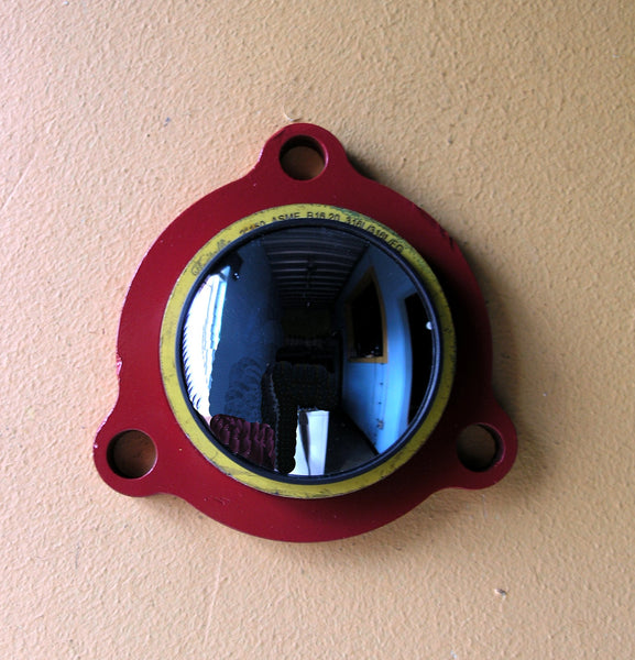 wall mirror from junk metal
