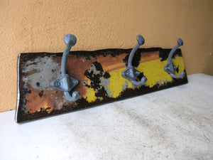 upcycled salvaged steel  coat rack