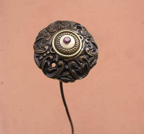 upcycled iron door knob flower