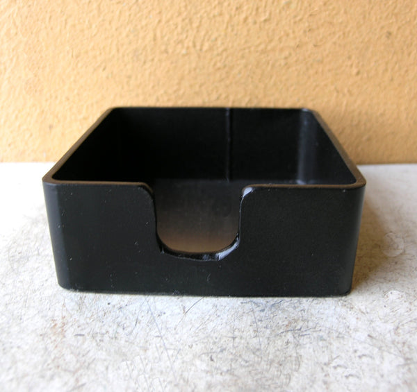 black metal post it note holder from salvaged steel