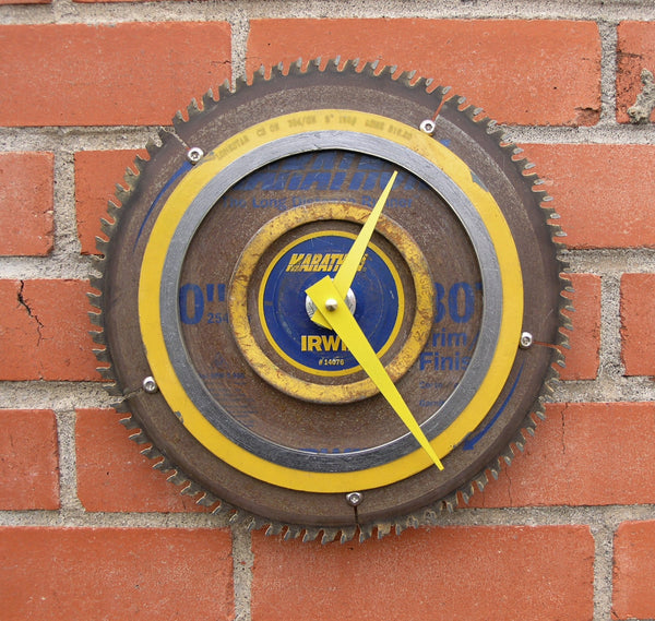 saw blade wall clock