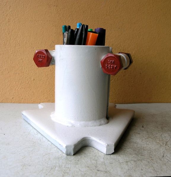 galvanized steel pen cup
