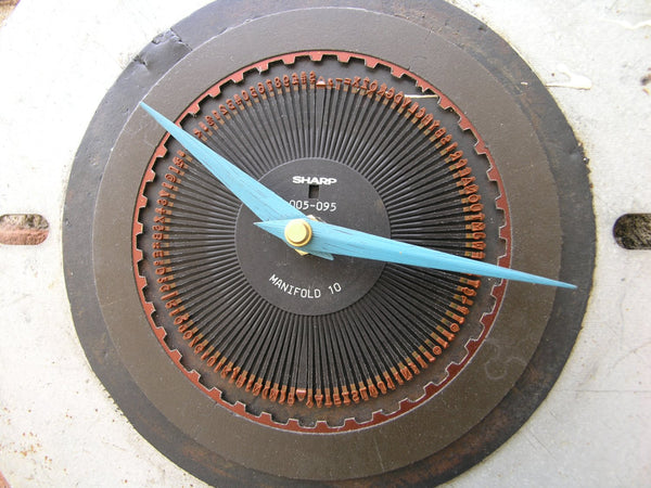 close up of industrial wall clock - PaulaArt