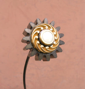"14"" steampunk gear flower for table vase - PaulaArt"