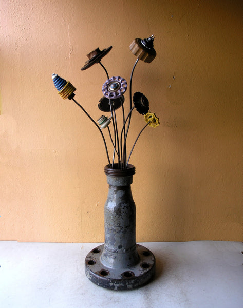 Industrial flower vase, flowers not included