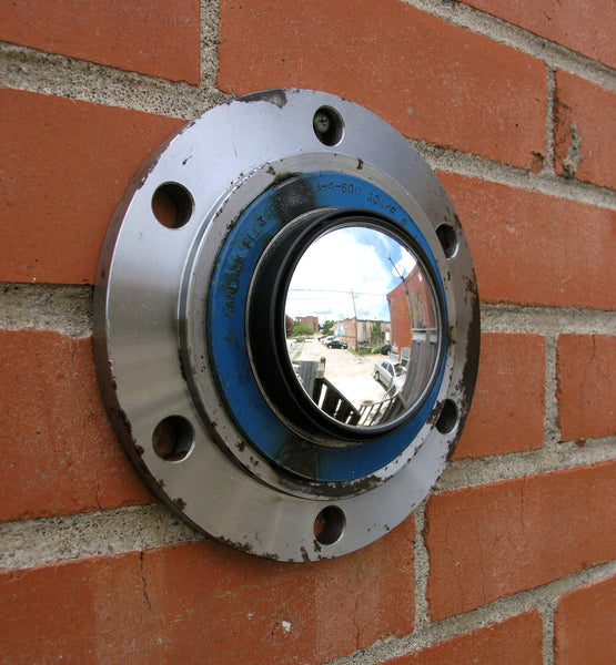 Industrial wall mirror