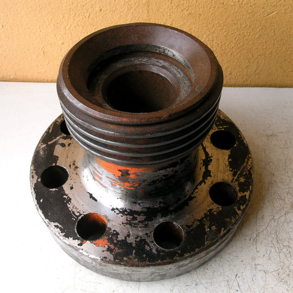 Steampunk flower vase from salvaged steel (flowers not included) - PaulaArt