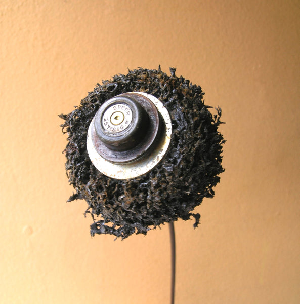 "19"" tall junk flower made from salvaged found objects - PaulaArt"