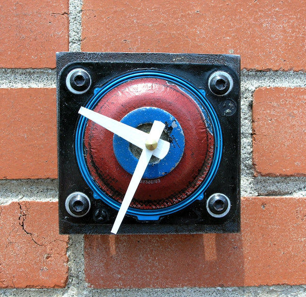 upcycled metal table or wall clock