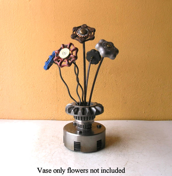 Industrial mini table vase flowers not included