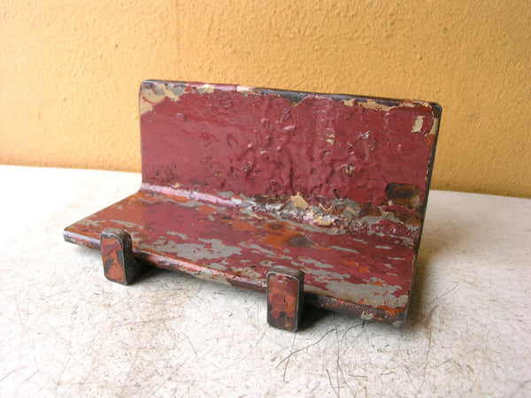 tablet holder from salvaged steel