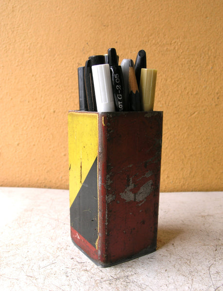 pencil holder for desk, industrial office