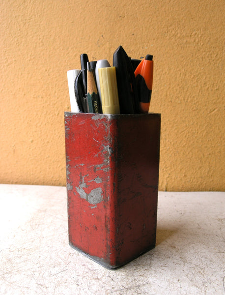 pencil holder for desk, industrial organizer