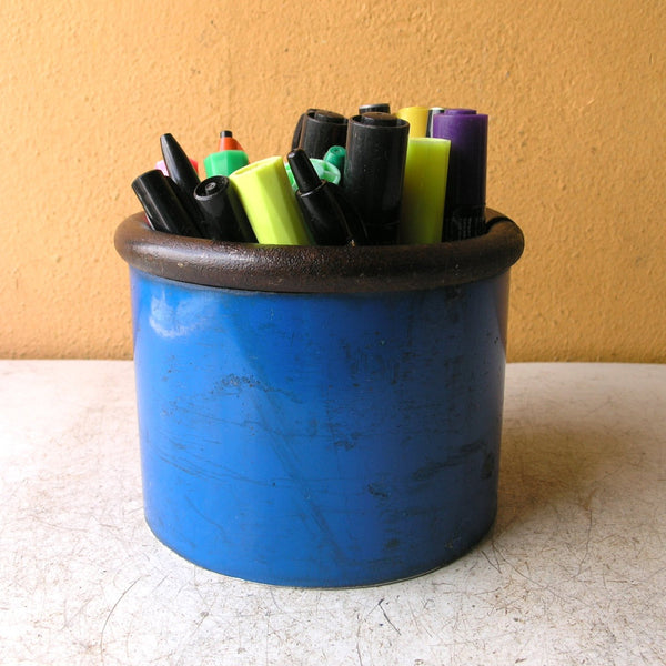 Large blue pencil holder - PaulaArt