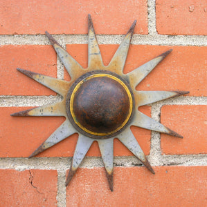 Metal wall flower made from old farm tiller blade - PaulaArt