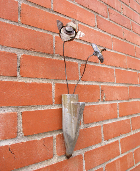 side view of wall sconce vase