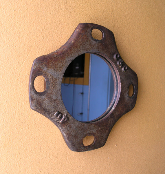 side view metal mirror